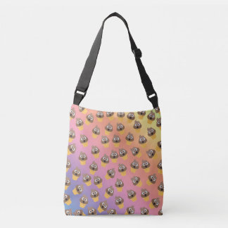 Cute Rainbow Poop Emoji Ice Cream Cone Pattern Crossbody Bag