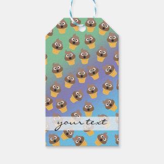 Cute Rainbow Poop Emoji Ice Cream Cone Pattern Gift Tags