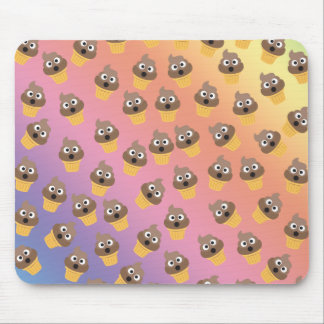 Cute Rainbow Poop Emoji Ice Cream Cone Pattern Mouse Pad