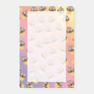 Cute Rainbow Poop Emoji Ice Cream Cone Pattern Post-it Notes