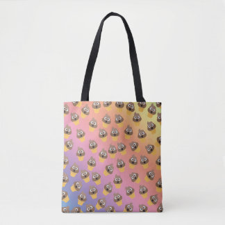 Cute Rainbow Poop Emoji Ice Cream Cone Pattern Tote Bag