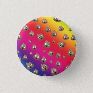 Cute Rainbow Poop Emoji Pattern 3 Cm Round Badge