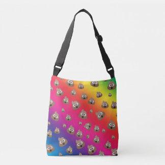 Cute Rainbow Poop Emoji Pattern Crossbody Bag