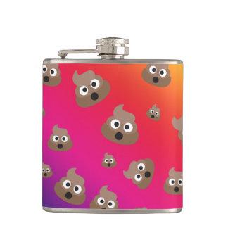 Cute Rainbow Poop Emoji Pattern Hip Flask