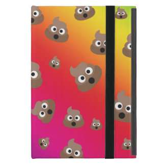 Cute Rainbow Poop Emoji Pattern iPad Mini Cover