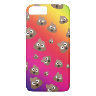 Cute Rainbow Poop Emoji Pattern iPhone 7 Plus Case