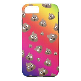 Cute Rainbow Poop Emoji Pattern iPhone 8/7 Case