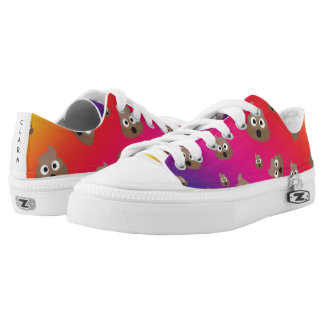 Cute Rainbow Poop Emoji Pattern Low Tops