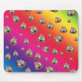 Cute Rainbow Poop Emoji Pattern Mouse Pad