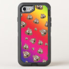 Cute Rainbow Poop Emoji Pattern OtterBox Defender iPhone 8/7 Case