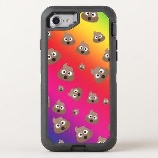 Cute Rainbow Poop Emoji Pattern OtterBox Defender iPhone 8/7 Case