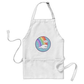 Cute Rainbow Seal Standard Apron