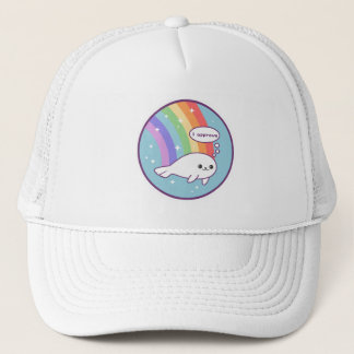 Cute Rainbow Seal Trucker Hat