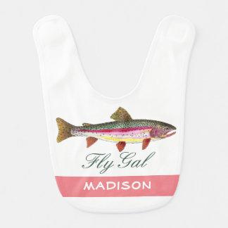 Cute Rainbow Trout Fly Fishing Bib