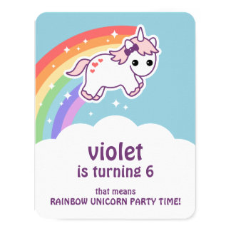 Rainbow Party Invitations Announcements Zazzlecomau