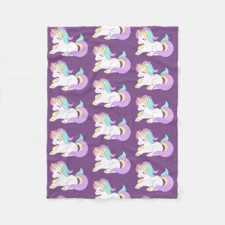 Cute Rainbow Unicorn Fleece Blanket