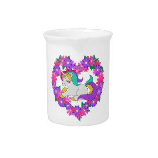 cute rainbow unicorn pitcher