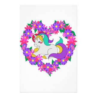 cute rainbow unicorn stationery