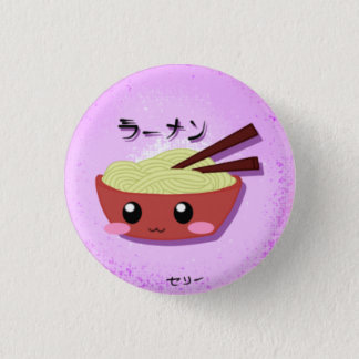 Cute Ramen Noodle Bowl 3 Cm Round Badge