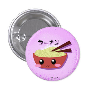 Cute Ramen Noodle Bowl 3 Cm Round Badge