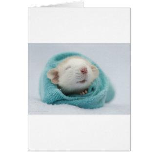 Cute Rat Card