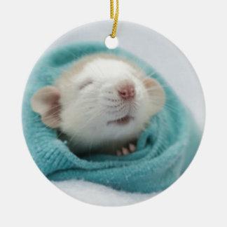 Cute Rat Ceramic Ornament