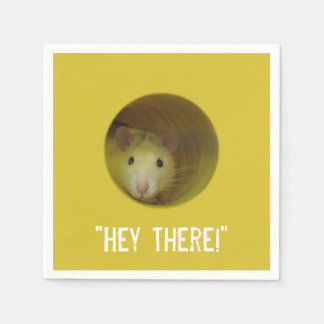 Cute Rat in Hole Funny Animal Disposable Napkin