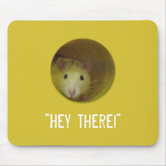 Cute Rat in Hole Funny Animal Mouse Pad