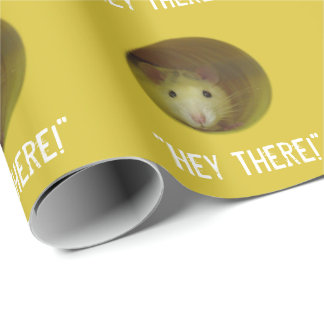 Cute Rat in Hole Funny Animal Wrapping Paper