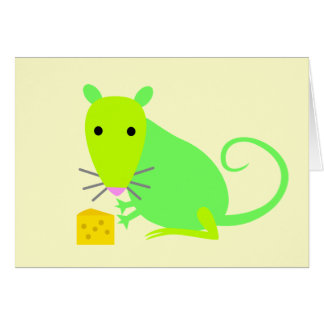 Cute Rat Notecard
