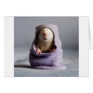 cute rat peek a boo card
