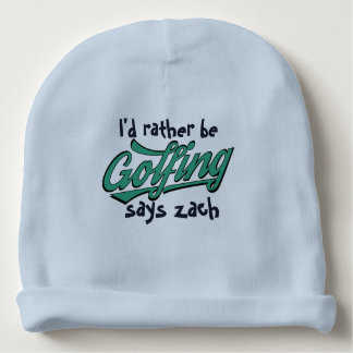 Cute Rather Be Golfing Custom Baby Cotton Beanie Baby Beanie