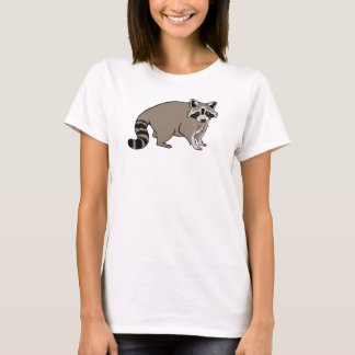 Cute Realistic Cartoon Raccoon T-Shirt