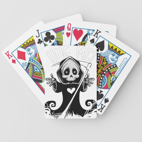 Cute reaper-baby reaper-cartoon reaper-baby grim bicycle playing cards