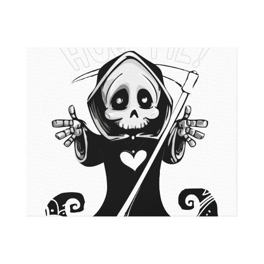 Cute reaper-baby reaper-cartoon reaper-baby grim canvas print