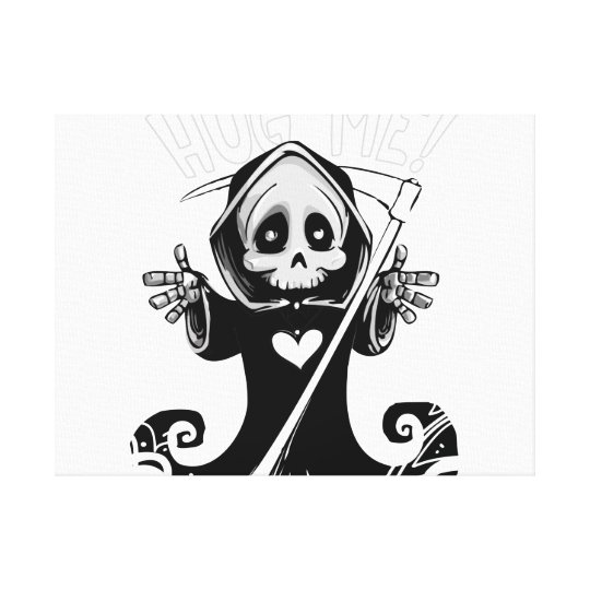 Cute reaper-baby reaper-cartoon reaper-baby grim canvas print