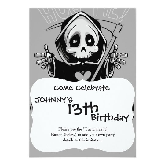 Cute reaper-baby reaper-cartoon reaper-baby grim card