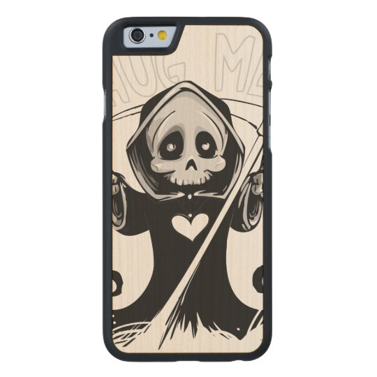 Cute reaper-baby reaper-cartoon reaper-baby grim carved maple iPhone 6 case