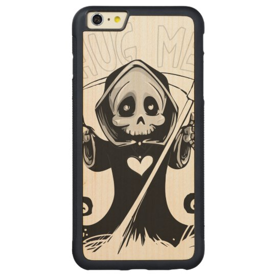 Cute reaper-baby reaper-cartoon reaper-baby grim carved maple iPhone 6 plus bumper case