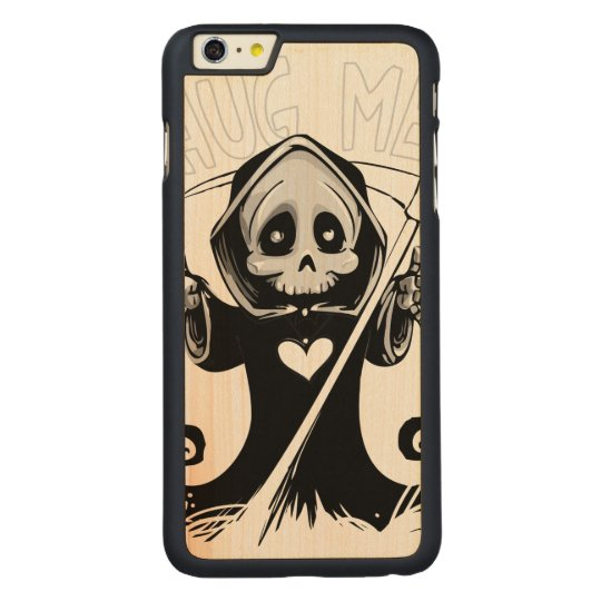Cute reaper-baby reaper-cartoon reaper-baby grim carved maple iPhone 6 plus case