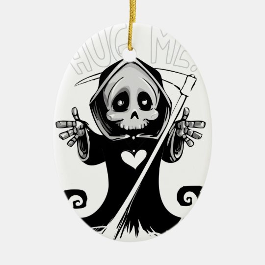 Cute reaper-baby reaper-cartoon reaper-baby grim ceramic ornament