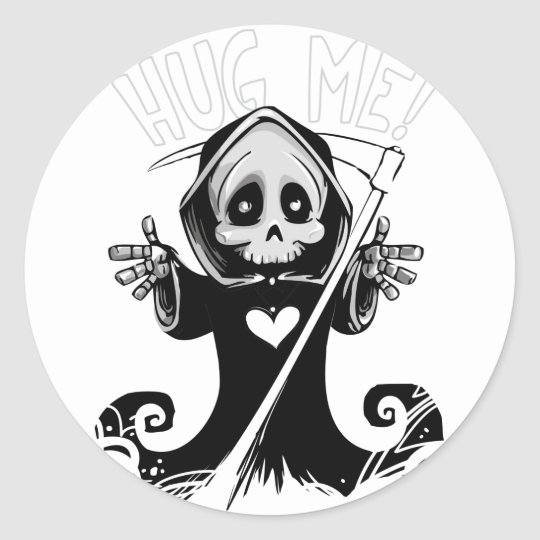 Cute reaper-baby reaper-cartoon reaper-baby grim classic round sticker