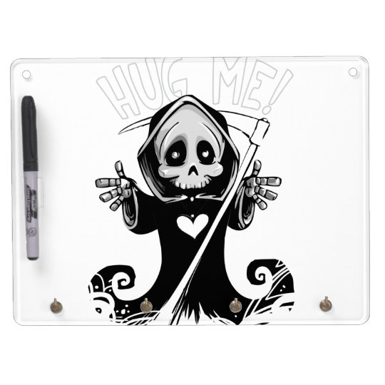 Cute reaper-baby reaper-cartoon reaper-baby grim dry erase board with key ring holder