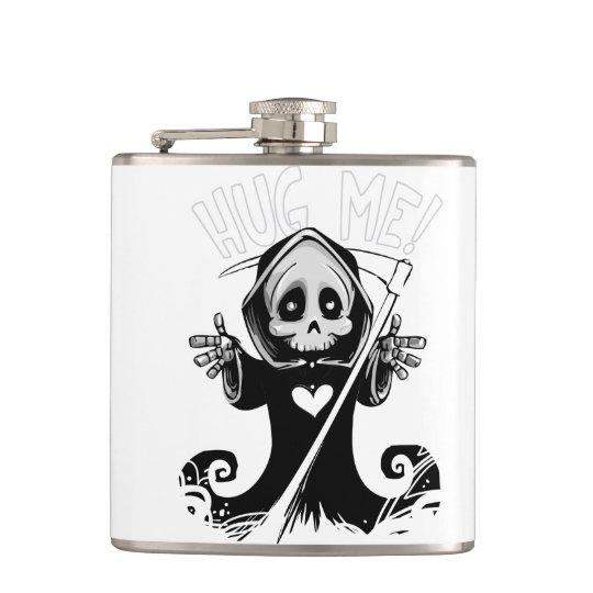 Cute reaper-baby reaper-cartoon reaper-baby grim hip flask