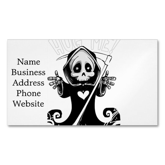 Cute reaper-baby reaper-cartoon reaper-baby grim 	Magnetic business card