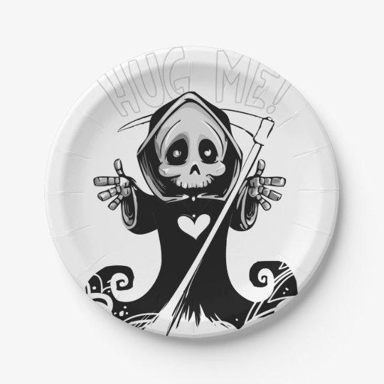 Cute reaper-baby reaper-cartoon reaper-baby grim paper plate