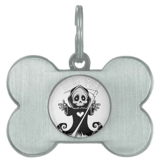 Cute reaper-baby reaper-cartoon reaper-baby grim pet name tag