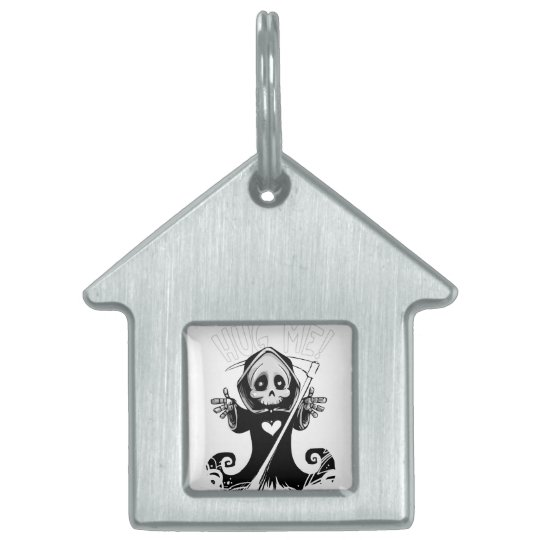 Cute reaper-baby reaper-cartoon reaper-baby grim pet tag