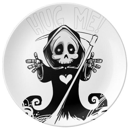 Cute reaper-baby reaper-cartoon reaper-baby grim plate