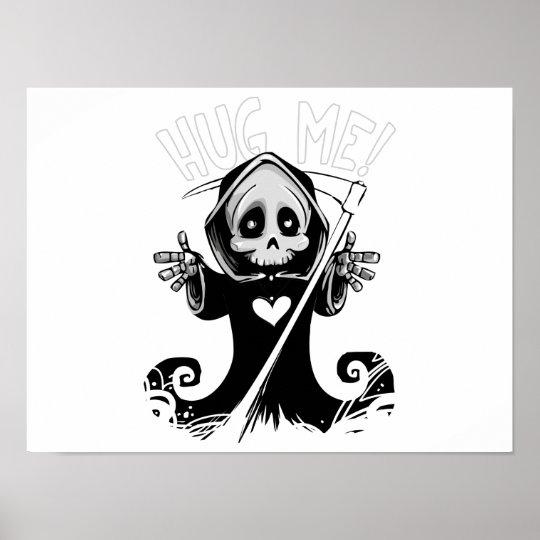 Cute reaper-baby reaper-cartoon reaper-baby grim poster